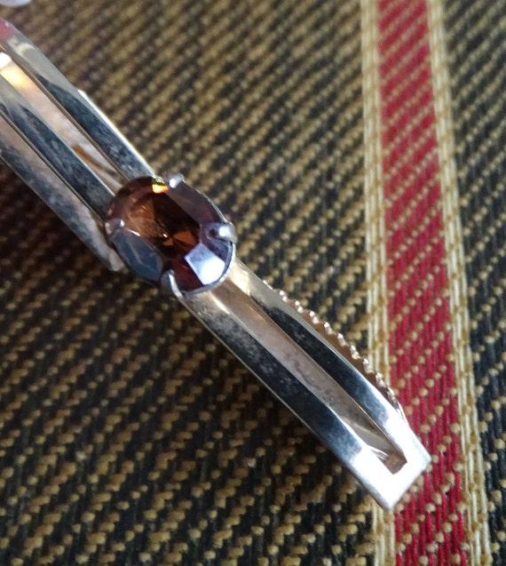 Vintage Argyle Tie Clip Vintage Swank Tie Clip Enamel Tie Bar Red and Blue Argyle Tie Clip