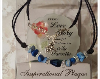A unique necklace ocean blues