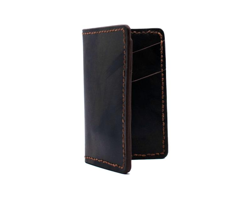 bifold wallet Brown Leather Vertical card holder