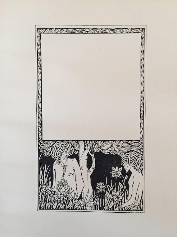 77efea18785 Vintage Pagan Papers Aubrey Beardsley Antique