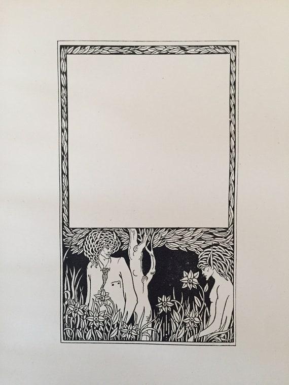 8d775f2a527 Vintage Pagan Papers Aubrey Beardsley Antique