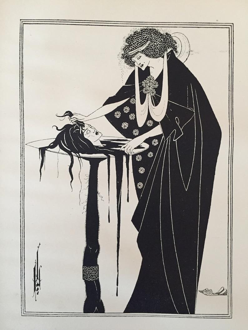 48229afb1e8 Salome by Aubrey Beardsley Antique Print