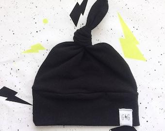 39396e61fa4 Black Baby Knot Hat