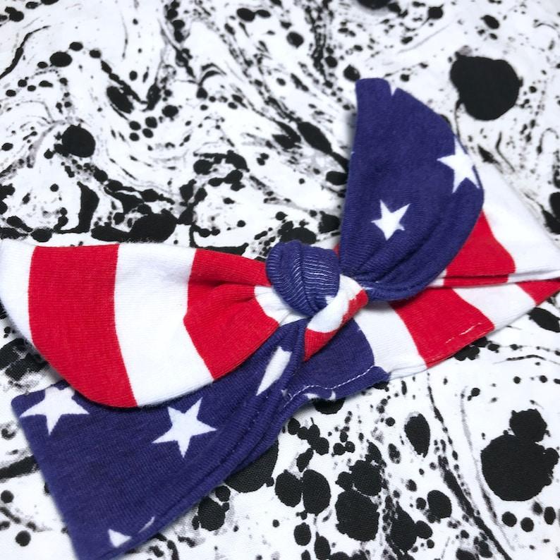 313becbd66b American USA Flag Top Knot flag baby headband american | Etsy