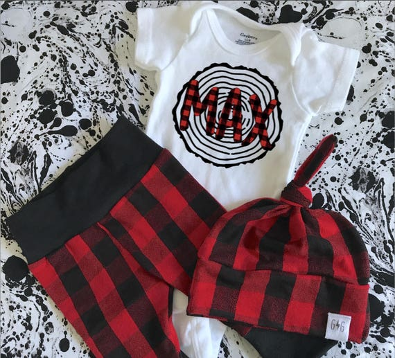 3b3728fcac4bab Lumberjack Birthday Outfit Baby Boy Name Outfit Baby Boy