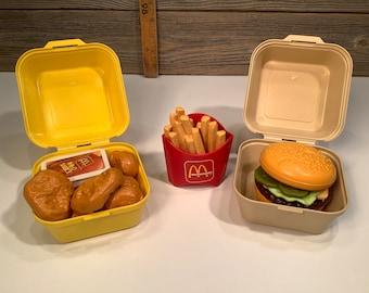 Vintage Fisher Price Fun with food McDonald Big Mac and McNugget 1988