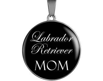 Black Lab, Black Labrador, Labrador Retriever Mom - Luxury Necklace