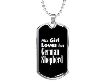 German Shepherd v2 - Luxury Dog Tag Necklace, Dog Tag Pendant