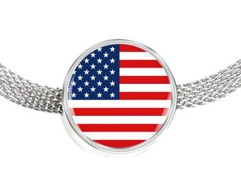 American Pride - Luxury Charm Bracelet