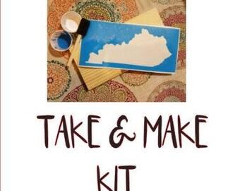 Kid take and make kits.  Take and make, Birthday parties, painting, paint kits, kid kits