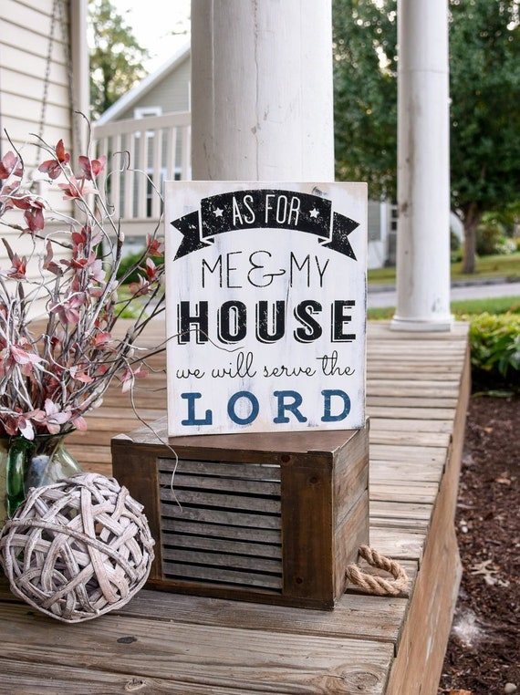 As for me and my house we will serve the lord wood sign  I  Religious sign  I  wood sign  I  home decor  I  wall hangings  I  wood wall art