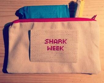 Shark Week Tampon Bag