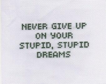 Stupid Dreams - Crossstitch