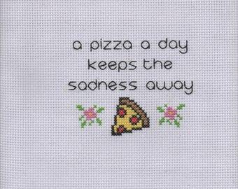 A Pizza A Day  - Cross stitch