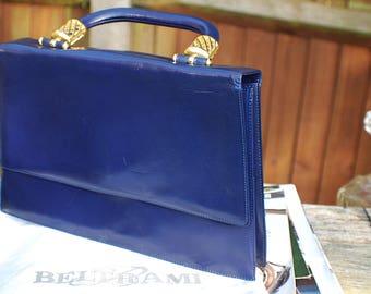 Beltrami Ladies Leather Vintage Handbag Made In Italy-Stunning!