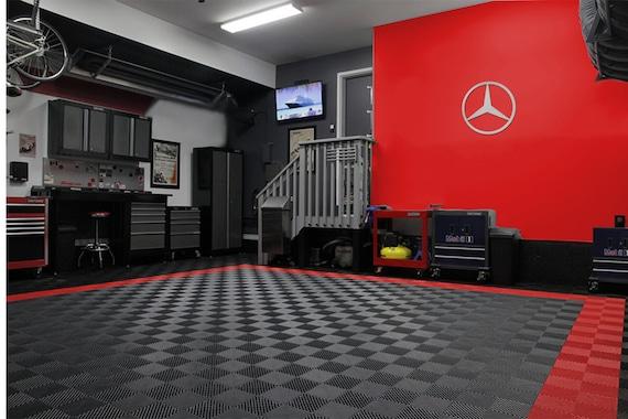 Mercedes Benz Star Logo Sign Garage Brushed Silver Aluminum 2 FT