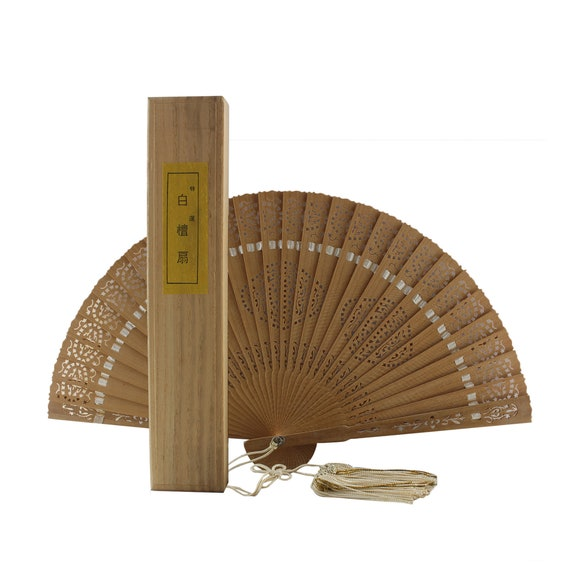 wooden fan, sensu fan, sandalwood hand fan, japane