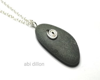 Pebble Pendant ~ By Abi Dillon ~ Pebble Jewellery ~ Beach Style ~ Handcrafted Irish Jewellery ~