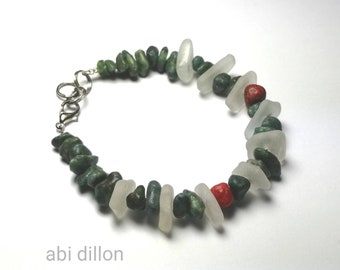Sea Glass Bracelet ~ By Abi Dillon ~ Sea Glass Jewellery ~ Beach Style ~ Gift for Her ~ Handcrafted Irish Jewellery ~