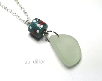 Sea Glass Pendant ~ By Abi Dillon ~ Sea Glass Jewellery ~ Gift for Her ~ Beach Style ~ Handcrafted Irish Jewellery ~
