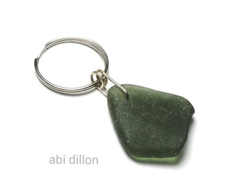 Sea Glass Keyring ~ Recycled Gift ~ Crafted by Abi Dillon ~ Sea Glass Gift ~ Beach Style  ~ Handcrafted Irish Gift ~