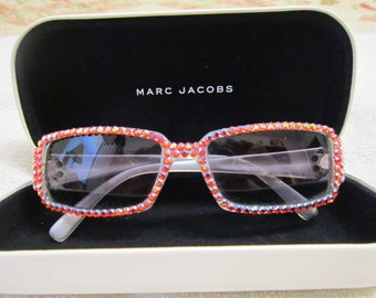 6f545a8a81f53 Marc Jacobs Swarovski Crystal Sunglasses Vintage 1990 s Rare Italian Design  Collectible Aurora Borealis Crystals Glamorous Hollywood Glasses