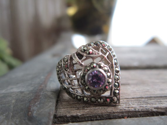 Sterling Silver Antique Filigree Ring With 1 carat Natural Ametrine Gemstone S254 Made To Order..