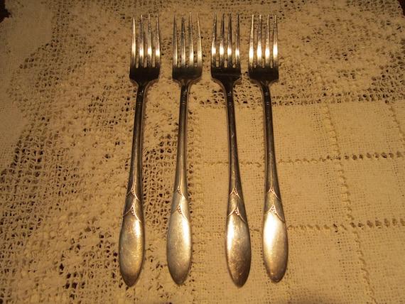 "Dessert Forks 6 5//8/"" Oneida Community Lady Hamilton 1932 Set of 8 x Salad"