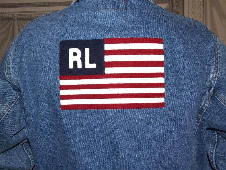 Vesteralph Veste Co Authentique M Drapeau Vêtements Bleu Sport «rlus» Taille Pour Lauren Polo Super Vintage Jeans SuperRalph 3RLAqc54j