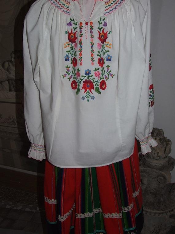 STUNNING Vintage c.1990s Hungarian KALOCSA White … - image 4