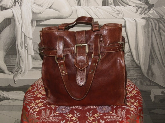 Fashionable! Vintage MULBERRY Brown High Quality L