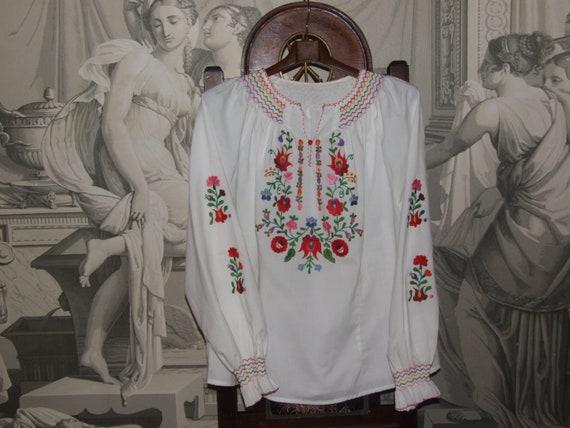 STUNNING Vintage c.1990s Hungarian KALOCSA White … - image 2