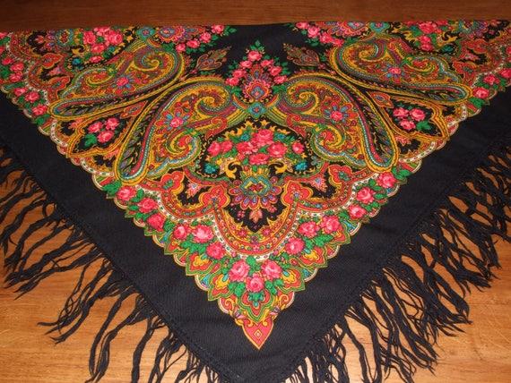 AMAZING Polish Folk Vintage c.1980s Colorful Flora