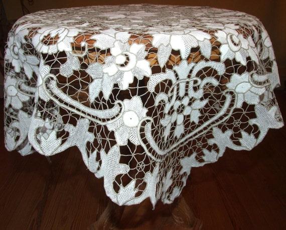 STUNNING U0026 RARE Antique Tablecloth/ Handmade Italian Point De | Etsy