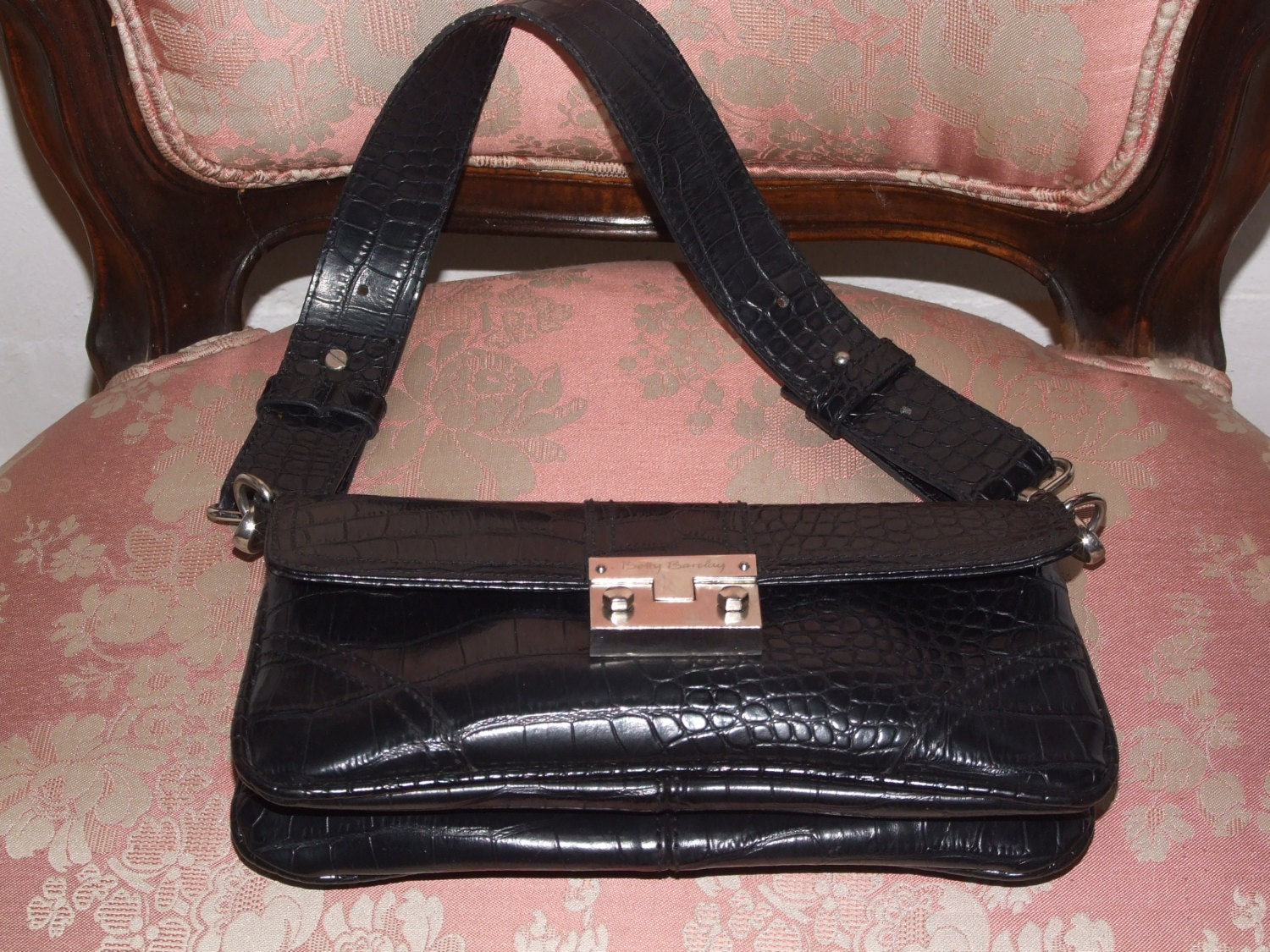 0528ccf640 BETTY BARCLAY Accessories Authentic Black Bag  Amazing Vintage