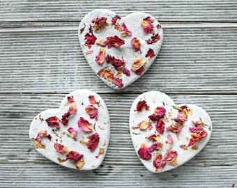 Charcoal Rose Heart Bath Bomb