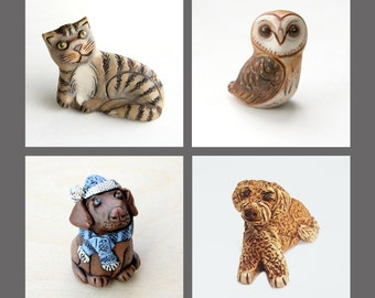 unusual gift ready to ship! Cat portrait sculpture handmade with air dry clay clay model