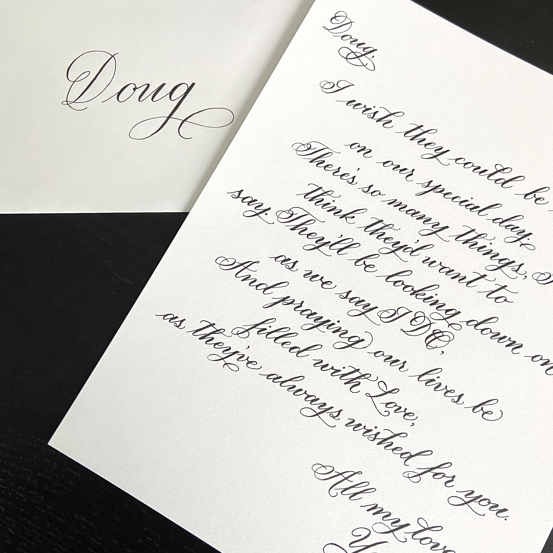 Personalisierte Kalligraphie Text/ Gelübde/ Gedicht/ | Etsy