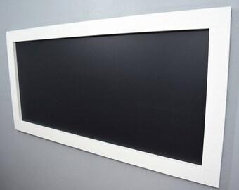 Large White Framed Chalkboard - Large Chalkboard - Kids Chalkboard -White Chalkboard - Long Chalkboard - Kitchen Chalkboard - Playroom Chalk
