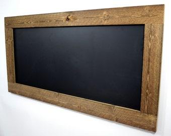 Rustic reclaimed wood chalkboard, Large framed chalkboard, Big chalkboard, Huge chalkboard, Wall chalkboard , Hanging chalkboard, Chalk