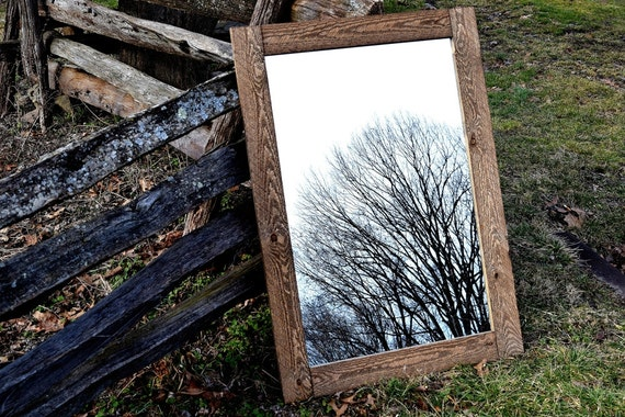 Rustic Natural Distressed Wood Mirrors Wildwest Barnwood Mirrors Rustic Weathered Mirror Brown Reclaimed Wood Framed Mirror Mirrors