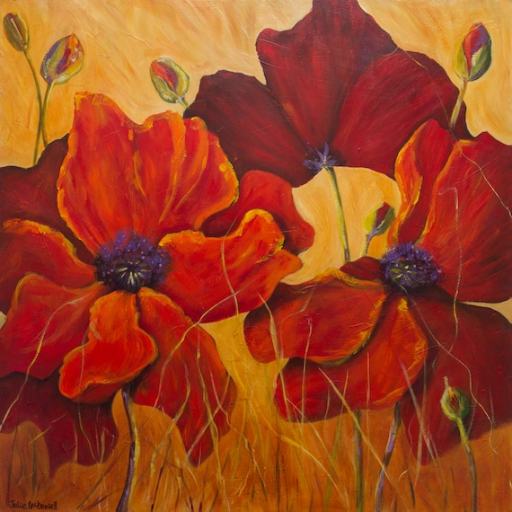 Red poppies poppy flowers poppies painting poppy wall art on mightylinksfo