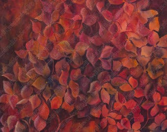 Digital download, original artwork, printable art, original red art, limited edition, image transfer, unique transfer, floral digital