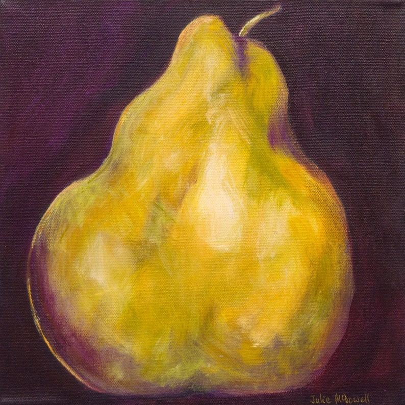 Fruit Print Pear Painting Set Of Paintings Dining Room Art