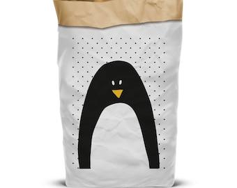 Sac de rangement, rangement des jouets, sac à jouets, sac de rangement papier, sacs en papier Kraft, décor de crèche, sacs de rangement, sacs en papier décor maison en papier