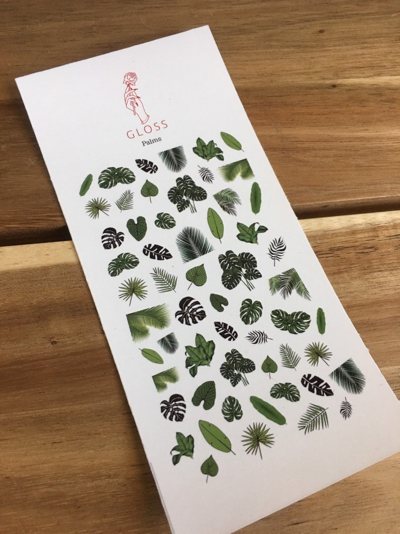 Palms Nail Decals Palm Trees Palm Leaves Monstera Leaves ...