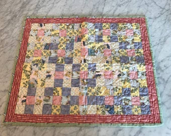 Quilted Doll Blanket FREE SHIPPING!