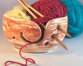 Large Neriage, Two Toned Ceramic Yarn bowl