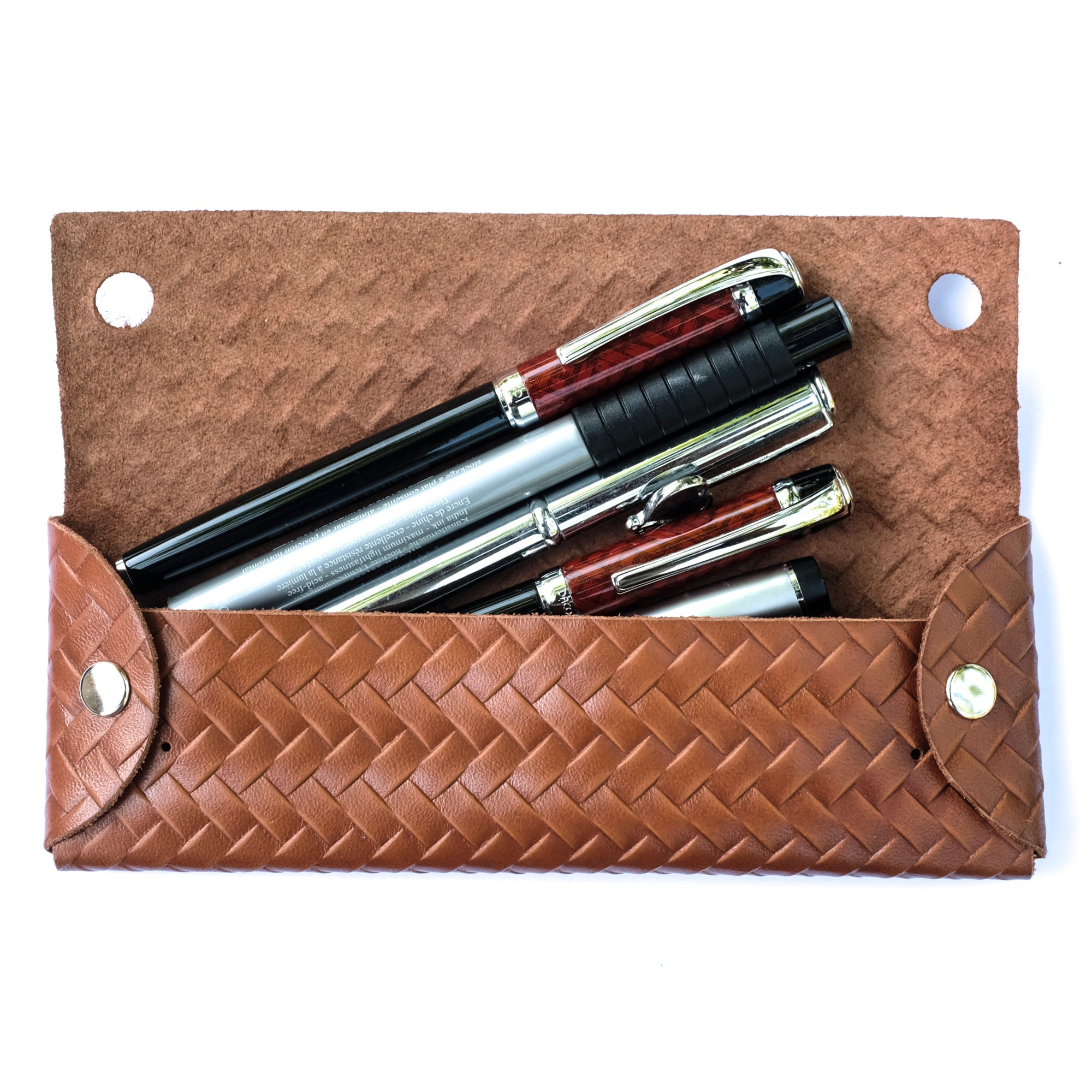 Mens Pen Case Personalized, Distressed Leather Custom Pencil Case ...