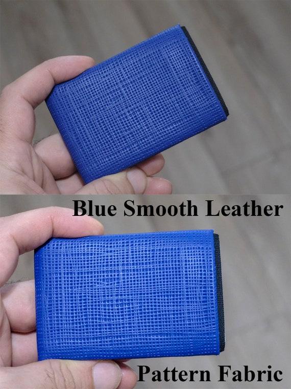 Mens Wallet, Minimalist Wallet, Groomsman Wallet, Groomsmen Wallet, RFID Blocking Wallet - Limited Edition - Pattern Fabric Leather Wallet